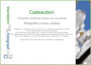 cursus cadeau, fotografieworkshops.com
