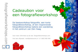 fotografieworkshop Den Haag, cursus cadeau