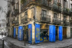 Een Photoworkx fotografieworkshop tijdens een stadswandeling in het oude centrum van Barcelona, Ciutat Vella en El Born.