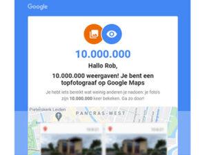 Photoworkx, 10 miljoen Google weergaven
